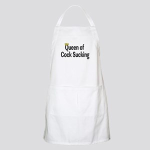 Queen Of Cock Sucking BBQ Apron