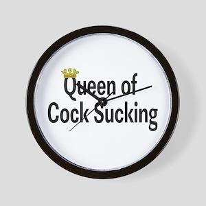 Queen Of Cock Sucking Wall Clock