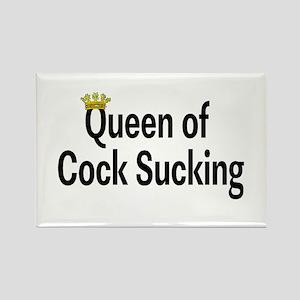 Queen Of Cock Sucking Rectangle Magnet