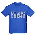 Eat Sleep Chemo Kids Dark T-Shirt
