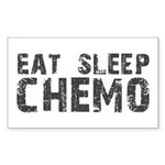 Eat Sleep Chemo Rectangle Sticker