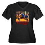 Grappling Women's Plus Size V-Neck Dark T-Shirt