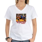 Grappling Women's V-Neck T-Shirt