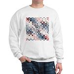 Abstract Pastel Shapes Pattern Sweatshirt