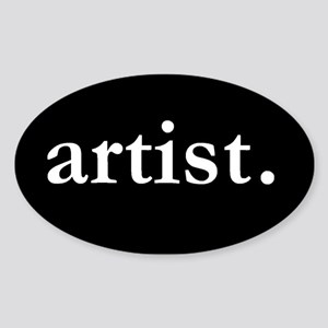 Artist Oval Sticker