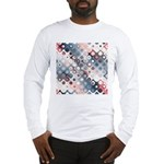 Abstract Pastel Shapes Pattern Long Sleeve T-Shirt