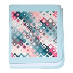 Abstract Pastel Shapes Pattern baby blanket