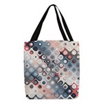 Abstract Pastel Shapes Pattern Polyester Tote Bag