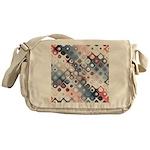 Abstract Pastel Shapes Pattern Messenger Bag
