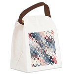 Abstract Pastel Shapes Pattern Canvas Lunch Bag