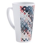 Abstract Pastel Shapes Pattern 17 oz Latte Mug