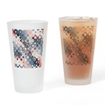 Abstract Pastel Shapes Pattern Drinking Glass