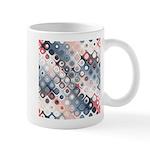 Abstract Pastel Shapes Pattern Mugs