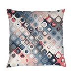 Abstract Pastel Shapes Pattern Everyday Pillow