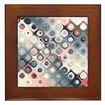 Abstract Pastel Shapes Pattern Framed Tile