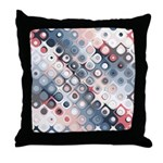 Abstract Pastel Shapes Pattern Throw Pillow