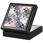 Abstract Pastel Shapes Pattern Keepsake Box