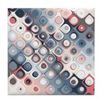 Abstract Pastel Shapes Pattern Tile Coaster