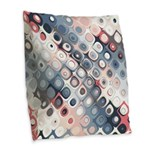 Abstract Pastel Shapes Pattern Burlap Throw Pillow