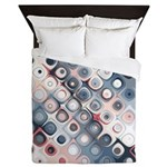 Abstract Pastel Shapes Pattern Queen Duvet