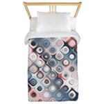 Abstract Pastel Shapes Pattern Twin Duvet Cover