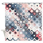 Abstract Pastel Shapes Pattern Shower Curtain
