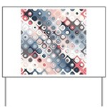 Abstract Pastel Shapes Pattern Yard Sign