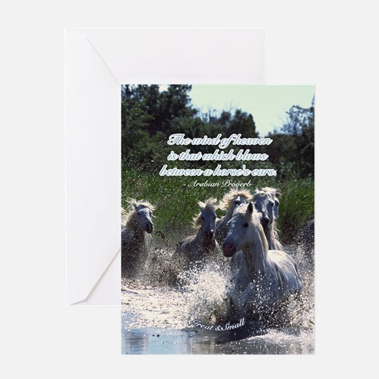 Horses w/ Proverb Greeting Card
