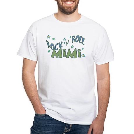 MiMi green White T-Shirt