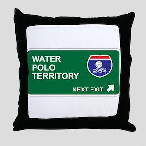 Water, Polo Territory Throw Pillow