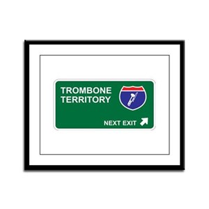 Trombone Territory Framed Panel Print