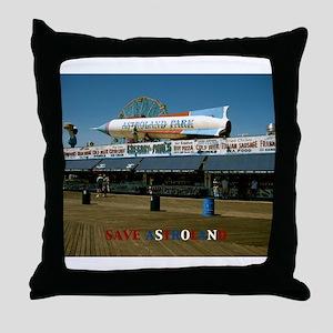 SAVE ASTROLAND Throw Pillow