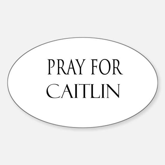 CAITLIN Oval Decal