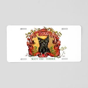 Vintage Scottish Terrier Aluminum License Plate