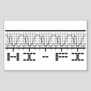 Hi-Fi Rectangle Sticker