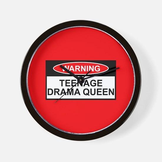 Teenage Drama Queen Wall Clock