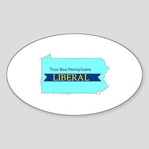 Oval Sticker | True Blue Pennsylvania LIBERAL