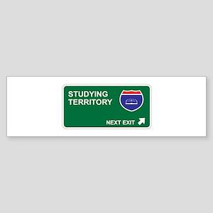 Studying Territory Bumper Sticker