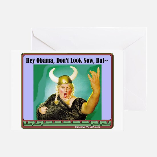 """""""The Fat Lady Is Singing"""" Greeting Card"""