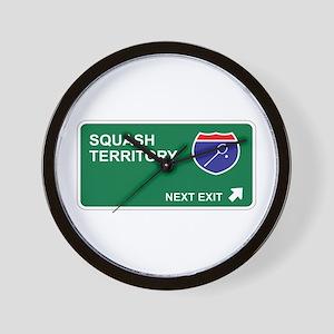 Squash Territory Wall Clock