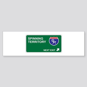 Spinning Territory Bumper Sticker