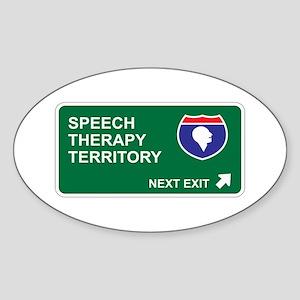 Speech, Therapy Territory Oval Sticker