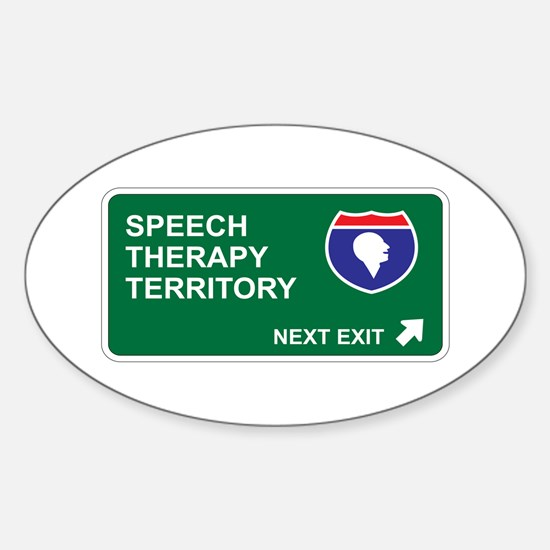 Speech, Therapy Territory Oval Decal