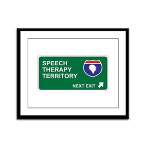 Speech, Therapy Territory Framed Panel Print