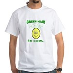 Green Hair is Cool White T-Shirt