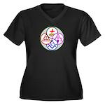 York Rite Women's Plus Size V-Neck Dark T-Shirt