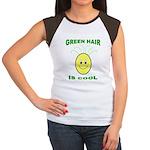 Green Hair is Cool Women's Cap Sleeve T-Shirt