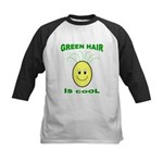 Green Hair is Cool Kids Baseball Jersey