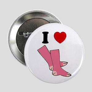 """I Love Pink Socks"" Button"