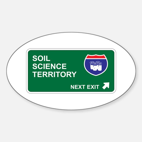Soil, Science Territory Oval Decal